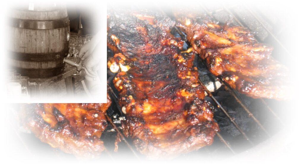 Spareribs Essen Holzfass